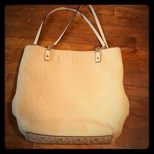 Michael Kors nude purse leather